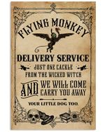 A Flying Monkey Delivery Service Wicked Witch Halloween poster canvas