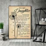 Dandelion Dad To My Daughter I'M Always Here For You poster canvas