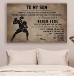 American Football Mom SonNever Lose poster canvas