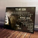 Football Mom To Son I Love You For Rest Of Mine poster canvas