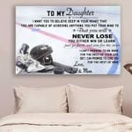 Hockey Dad&Mom To Daughter Never Lose poster canvas
