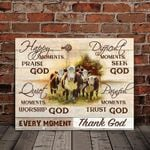 Farming Cows Happy Moments Praise God Quite Moments Worship God poster canvas
