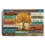 Love Tree To Granddaughter Never Forget That I Love You Mom White C poster canvas