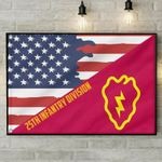 25Th Infantry Division Us Army United States Army Us Flag poster canvas