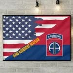 82Nd Airborne Division Airborne Us Flag poster canvas