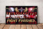 2019 World Series Champions Washington Nationals Fight Finished poster canvas