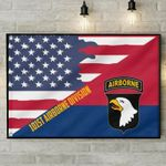 101St Airborne Division Airborne Us Flag poster canvas