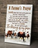 A farmer's prayer cow the blessing of my farm for farmer poster canvas