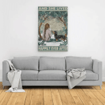 [Luxury] Girl With Dachshund And She Lived Happily Ever After Poster Canvas