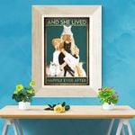 Order - Black Cat Girl With Many Cats And She Lived Happily Ever After Poster Canvas