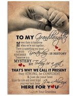 To My Granddaughter Always Here For You Hand Holding Poster