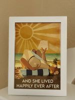 And She Lived Happily Ever After Beach Girl Vintage Posters Poster Prints Art Wallpaper