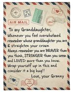 To My Granddaughter Love Air Mail Poster