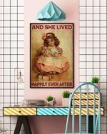 Girl Doll Lived Happily Ever After Kid Character Identity Gift For Birthday Vertical  Canvas Wall Art Home Decor