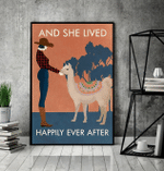 Llama And She Lived Happily Ever After Poster