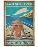 Girl Cruising Lived Happily Ever After Yatch Trip Tropical Art Enjoyi