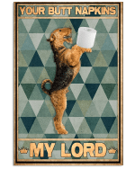 Your Butt Napkins Airedale Terrier Poster