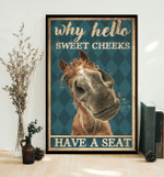 Why Hello Sweet Cheeksbrown Horse Poster Canvas