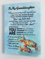 To My Granddaughter I Will Love You Forever And Always Colorful Turtle Poster