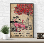 Dictionary Flamingo And She Lived Happily Ever After Poster