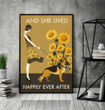 German Shepherd And She Lived Happily Ever After Poster Canvas