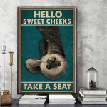 Hello Sweet Cheeks Funny Sloth Cavas