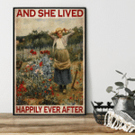 Gardening Girl And She Live Happily Ever After Poster Canvas