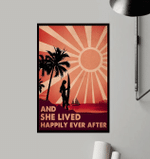 Surfing Girl And She Lived Happily Ever After Poster