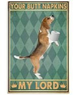 Your Butt Napkins My Lord Brown Dachshund Poster