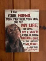 Labrador Poster canvas Your Dog You Are My Life