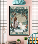 Westie Dog And She Lived Happily Ever After Canvas