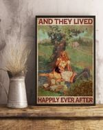 Couple Picnic And They Lived Happily Ever After Romantic Story Go Happiness  Canvas Wall Art Home Decor