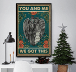 You And Me We Got This Skeleton Family Canvas