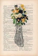 Botanic Pansy Feet Anatomy Print Vintage Floral Illustration Muscles Flowers Dictionary Wall Art Gift