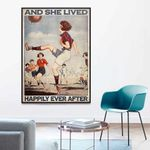 Football Girl And She Lived Happily Ever After Poster Canvas