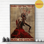 Easily Distracted By Music And Dancing Salsa Flamenco Poster