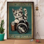 Easily Distracted By Cats And Cameras Tabby Kitten Poster