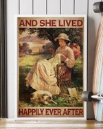 Sewing Girl Live Happily Ever After Pet Lover Vertical  Ca
