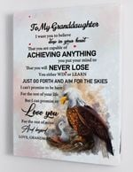 To My Granddaughterlove You For The Rest Of Mine And Beyond Eagle Poster