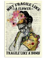 She Not Fragile Like A Flower Gorgeous Beautiful Women Vintage Dictionary Wall Paper