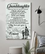 To My Granddaughter My Love For You Is Forever Grandma Love Poster