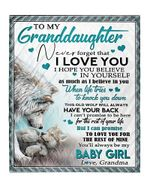 To My Granddaughter You'Ll Always Be My Baby Girl Adorable Wolf Poster
