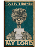 Your Butt Napkins My Lord Bushy Hair Alpaca Poster