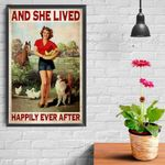 Farm Girl Horse Chicken Dog And She Lived Happily Ever After Poster Canvas