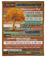 To My Granddaughter Never Forget That I Love You Humannoid Tree Poster