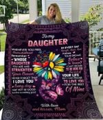 To my daughter daisy peace hippi symbol crown butterfly love believe mom kiss family birthday gift