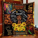 God say i am black queen magic strong lovely unique sunflower family gift