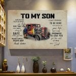 To my son journey safe way promise love life back home dad family truck birthday gift