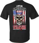 I am an amerian have the right to bear arms your approval required old skull flag birthday gift t shirt