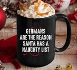 Germans are the reason santa has a naughty list demon tail birthday gift mug